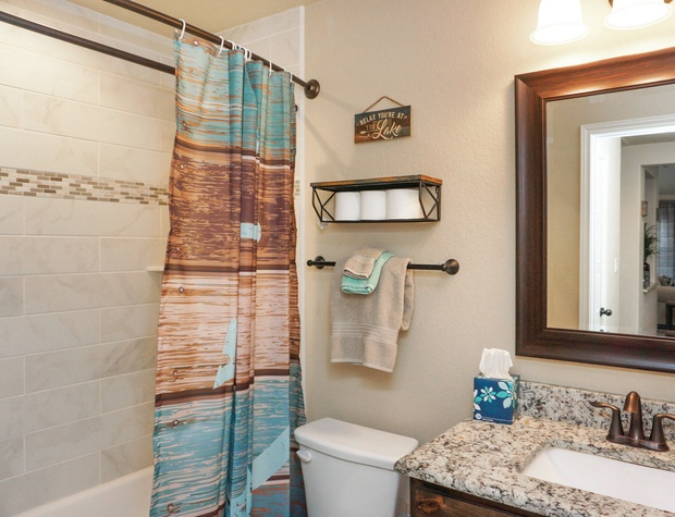Hall bathroom- Full size with tub/shower combo