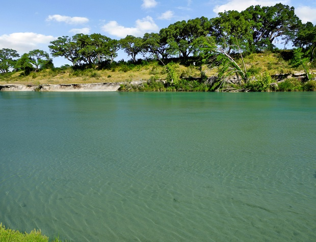 Enjoy the clear water of the Blanco River