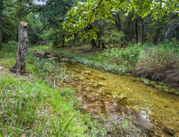 Beautiful crystal clear creek in rear of property
