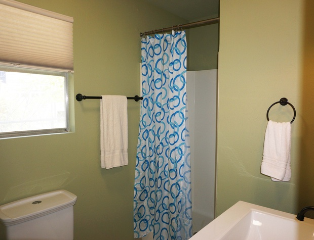 Full bathroom with standing shower