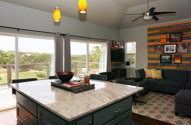 Plenty of natural light and balcony access from the living room and kitchen.