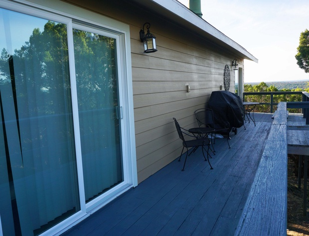 Deck access from the master bedroom.