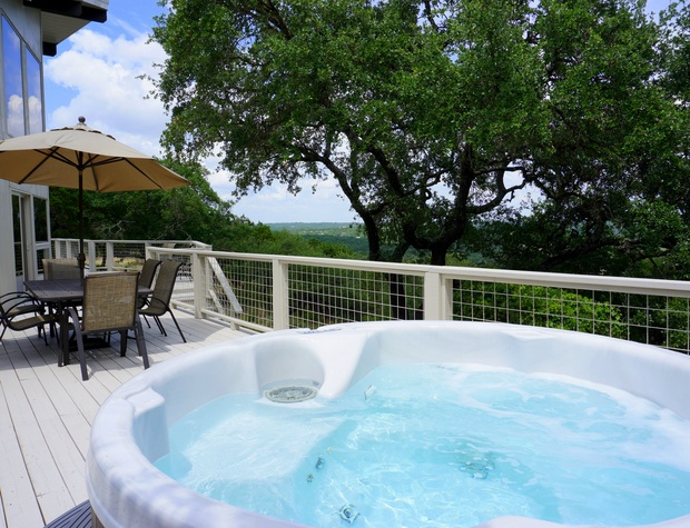 Soak in the hot tub and the views!