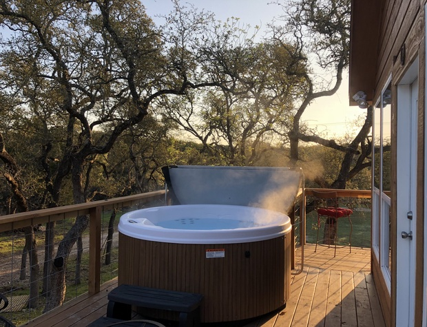 Hot tub and views from deck