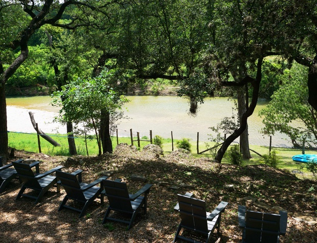 Enjoy a shady spot from the many oak trees on the property