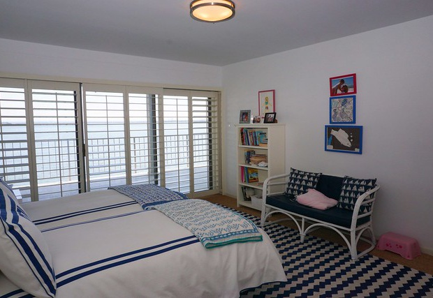 View of the water from each bedroom