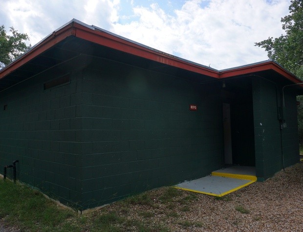 A large bathroom facility is available for all campers at the property.