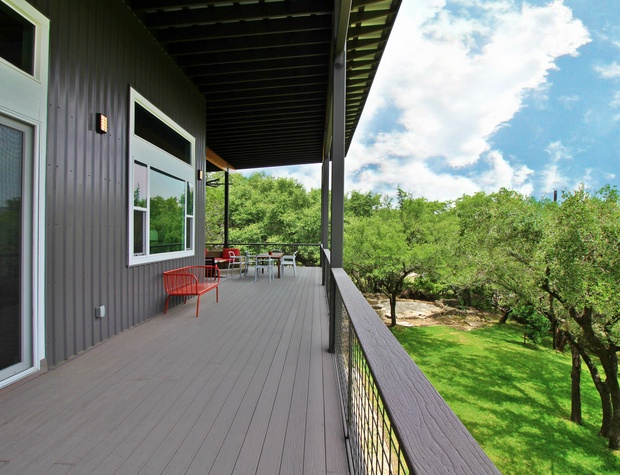 Large porch with additional seating