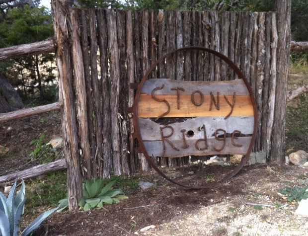 Entrance to the Luxury Cabins at Stony Ridge