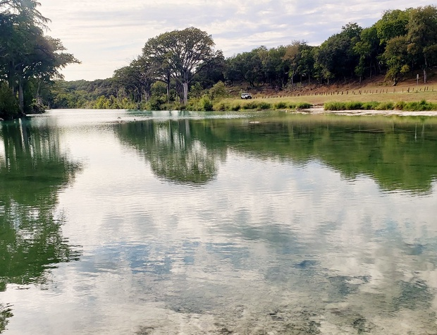 Enjoy swimming, fishing, and floating in the Blanco River
