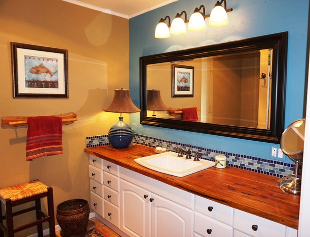 Large vanity and sink
