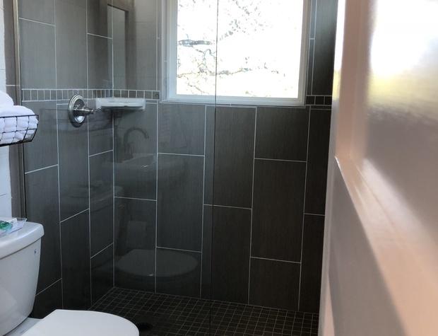 Walk- in shower