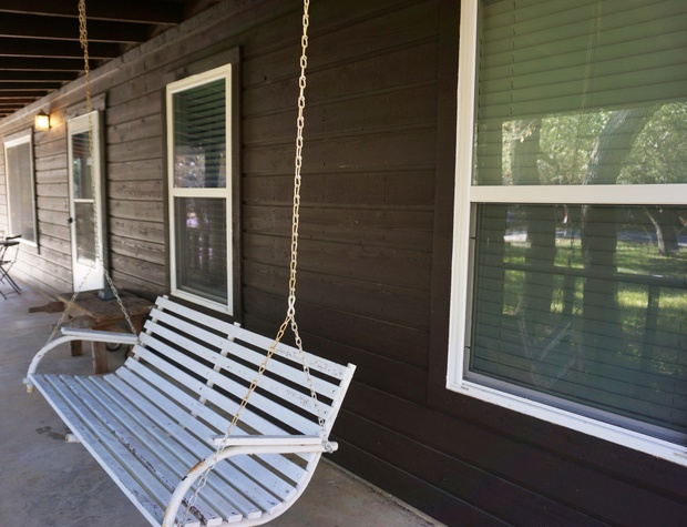 Swing seat on the porch