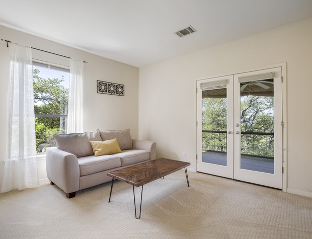 Seating area in master bedroom