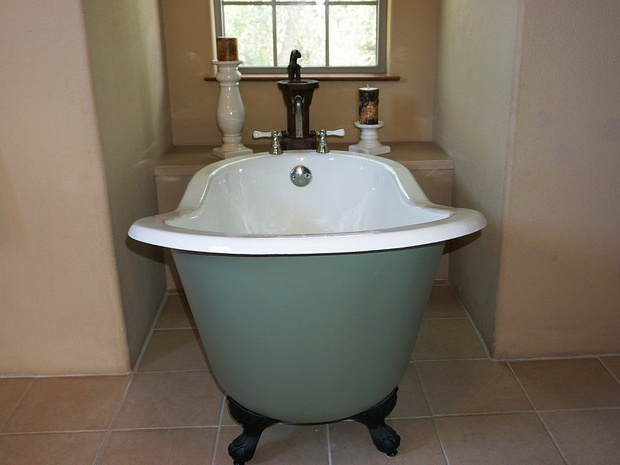 Claw foot tub in master (not pictured is a walk in shower)