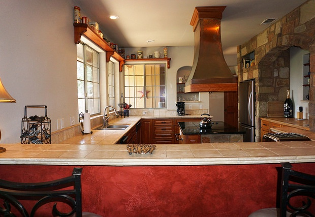 Tons of counter space in this chef's kitchen!