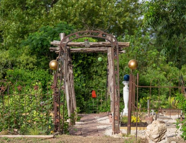 Entry gate to the garden
