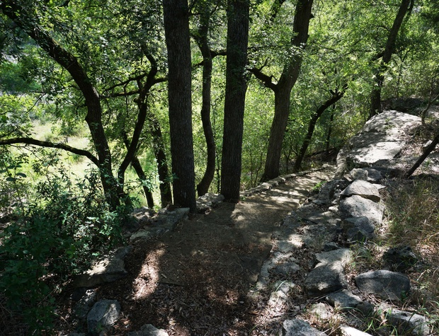 Walking paths on the property