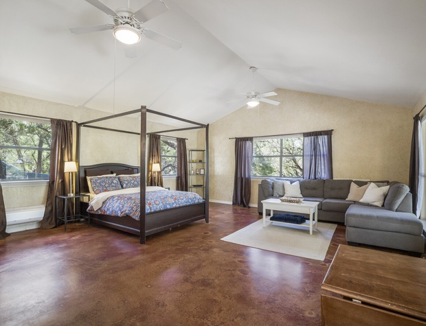 Guest House living and bedroom