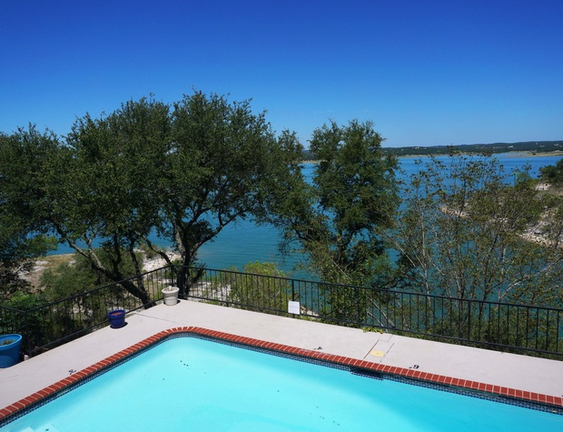 View of the lake from the pool