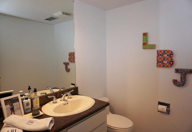 Half bathroom located on the main floor
