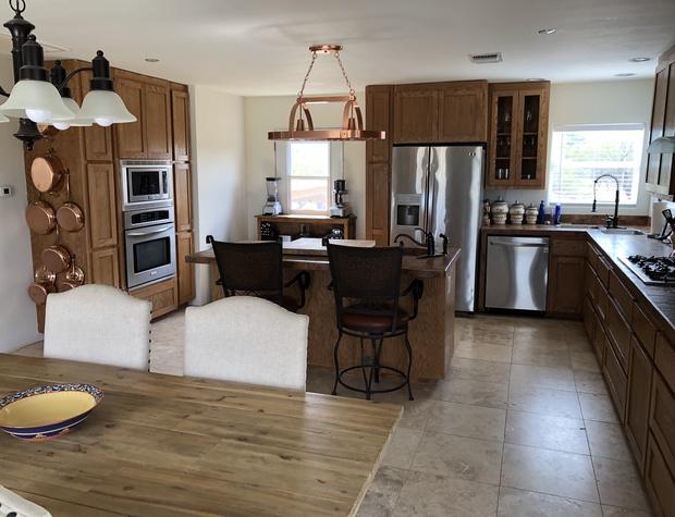 kitchen with modern amenities