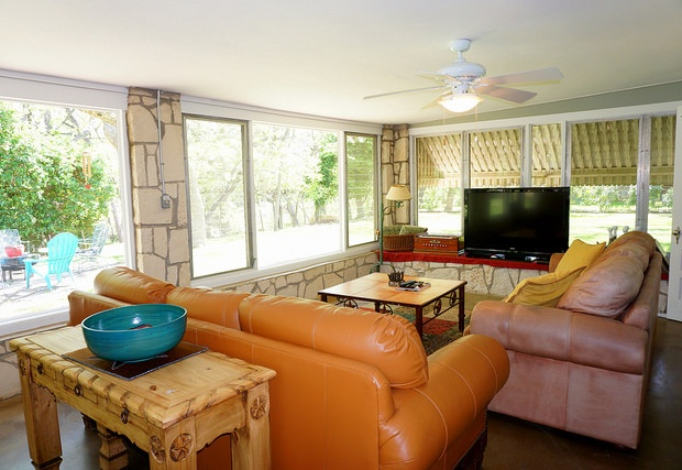 Living area with TV and comfortable seating