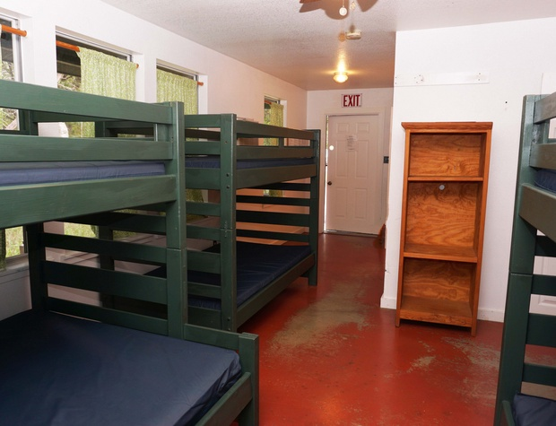 Bunk beds in 1st sleeping area