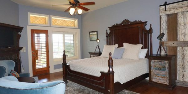Luxurious master suite with king bed