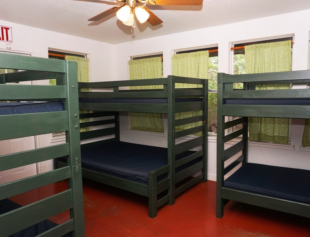More bunk beds in first sleeping area - don't forget your linens!