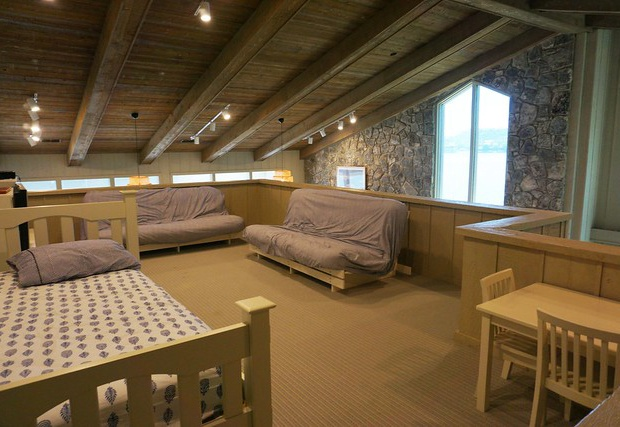Loft with a trundle bed and two futons
