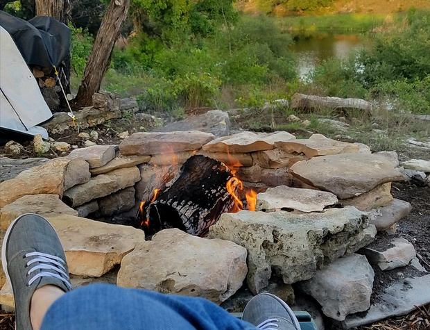 Enjoy the firepit when burn bans are not in effect