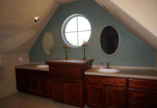 Master bath with split vanities