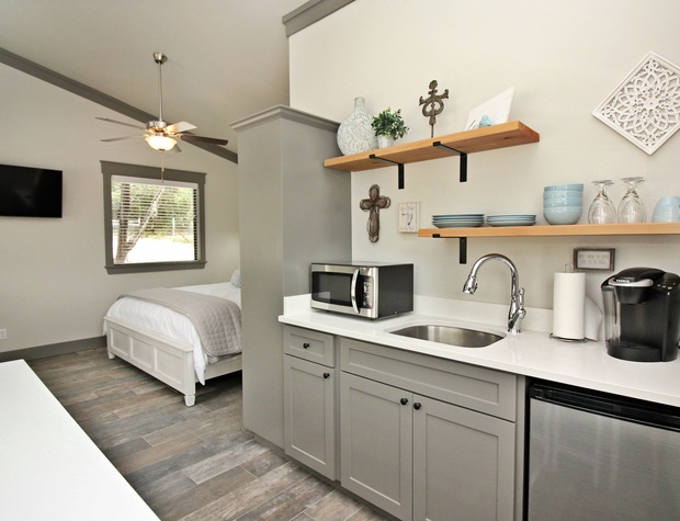 Studio layout cottage with lots of natural light