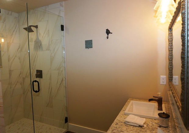 Walk-in shower in bathroom #2