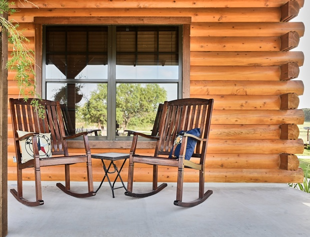 Enjoy relaxing at the end of the day in one of these rocking chairs.