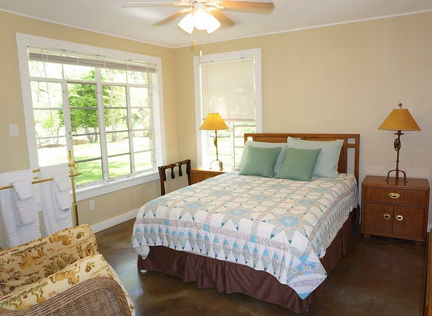 3rd main house bedroom with queen sized bed and ensuite bathroom.