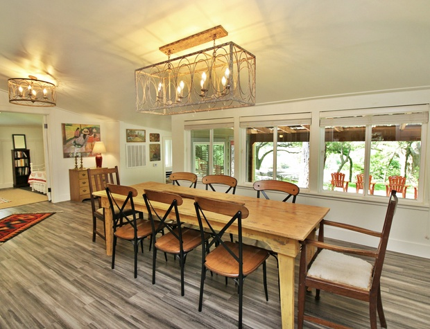 Dining room table that seats eight