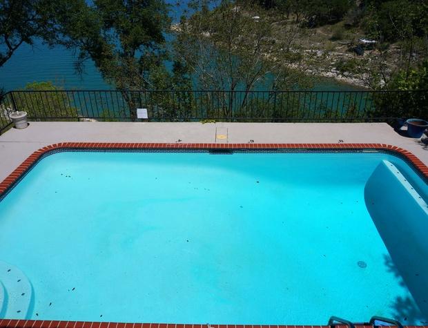 Nine foot deep pool