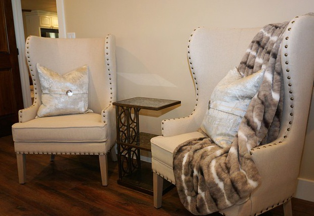 Seating for two in the master suite