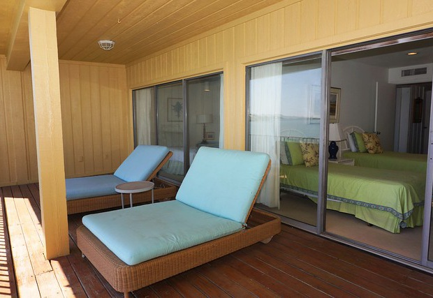 Lounge seating outside of the bedrooms