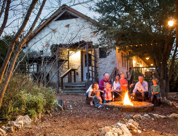 Enjoy a family fun night by the fire pit
