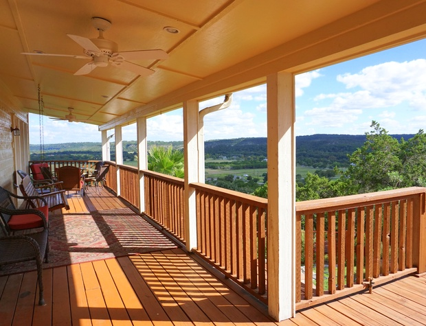 Deck with outdoor seating to soak up the view!