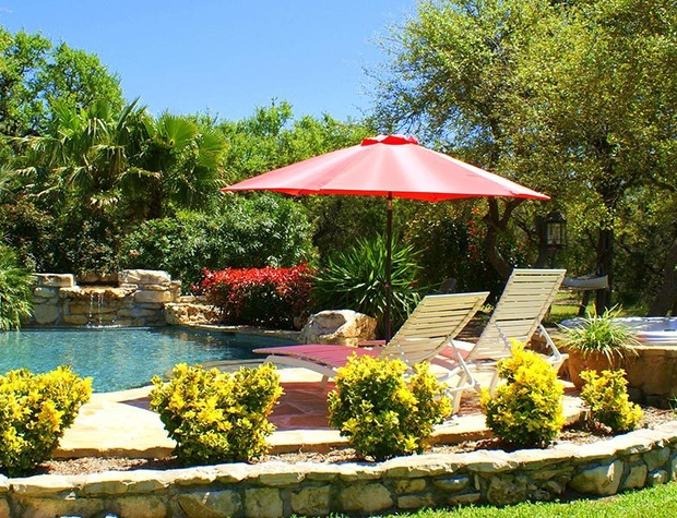 Lush gardens and a refreshing pool - a perfect getaway!