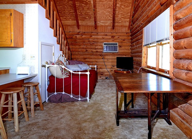 Living area of cabin