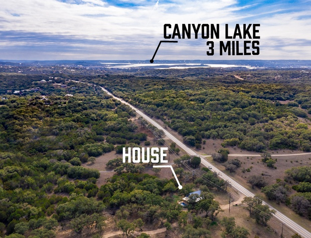 House is located just a short drive to Canyon Lake, Wimberley,  and Blanco.