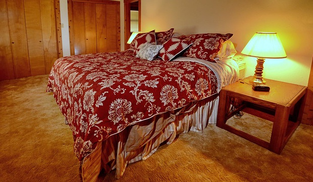 King Bed in Master Bedroom- Log Cabin