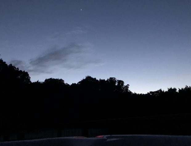Dark Sky view from the hot tub.  Perfect for star gazing