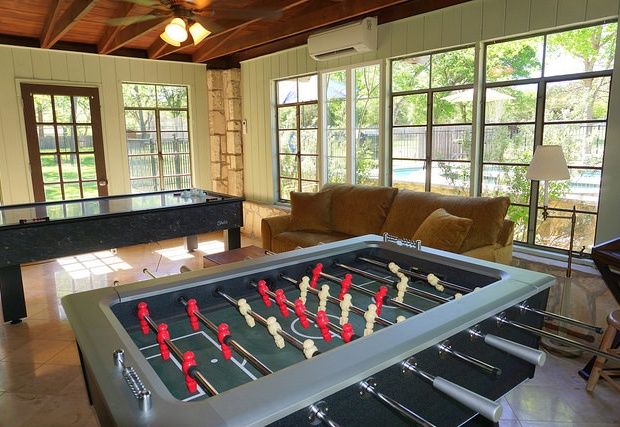 Pool Casita game room  with foos ball and air hockey