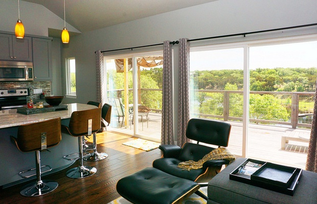 Great views of the outdoors from the living area